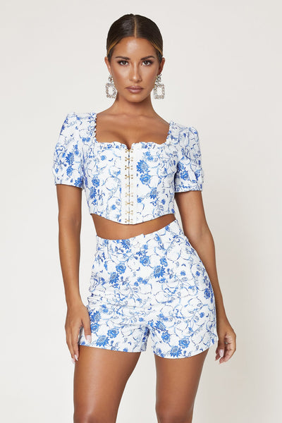 Eleanor High Waisted Shorts - Baroque