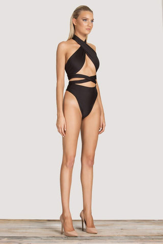 Gina High Rise Swimwear Bottoms - Black