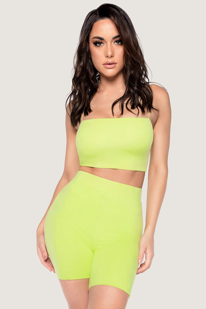 Yvonne Crop Top - Lime Green - MESHKI