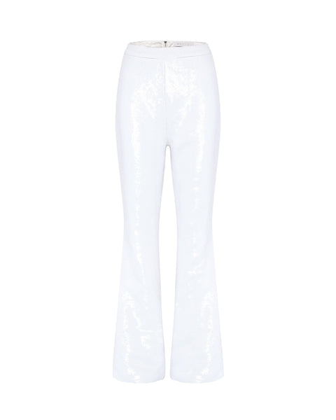 Joanna Sequin Pants - White - MESHKI