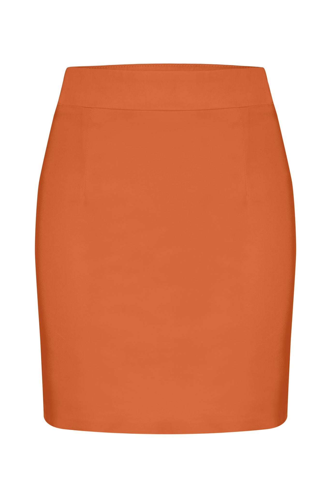 Kenda Plain Mini Skirt - Rust - MESHKI