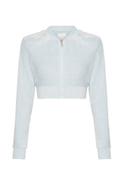 Gretchen Velvet Cropped Jacket - Baby Blue - MESHKI