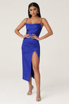 Kimberly Cowl Front Midi Dress - Bright Blue