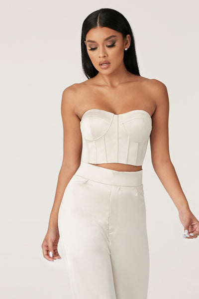 Rosella Strapless Bustier - Champagne