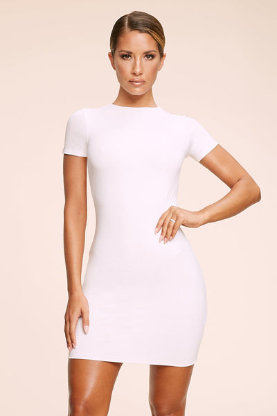 Kennedy Short Sleeve Mini Dress - White