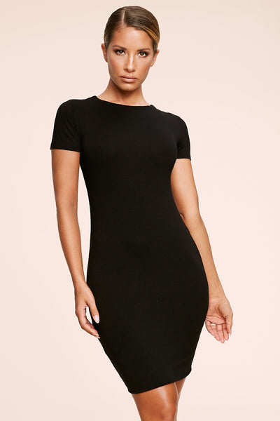 Kennedy Short Sleeve Mini Dress - Black