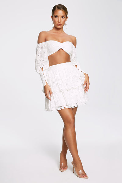 Christabelle Ra Ra Mini Skirt - White