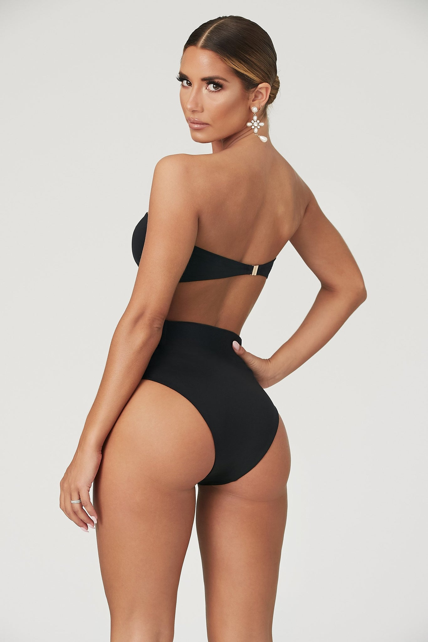 Hadley High Waisted Bottoms  - Black - MESHKI