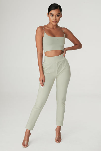 Amelia Fitted High Waisted Joggers - Olive