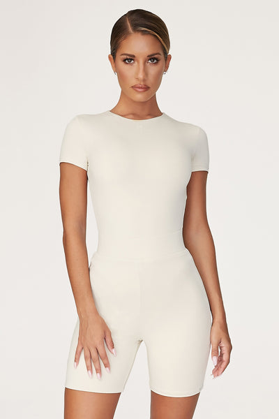 Haven Short Sleeve Bodysuit - Sand