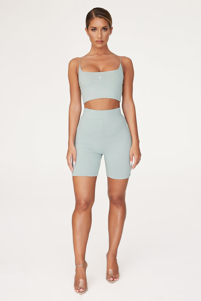 Cameryn High Waisted Bike Short - Storm - MESHKI