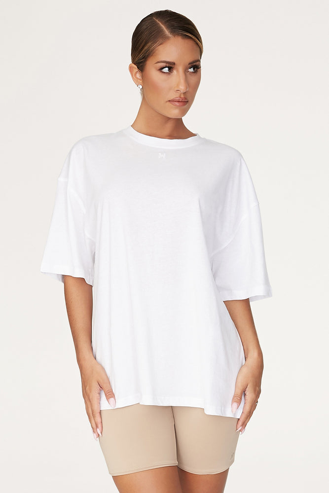 Rose Oversized T-Shirt - White - MESHKI