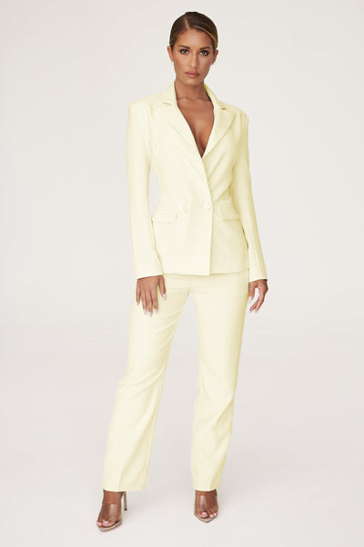 Charlize Cigarette Pants - Lemon