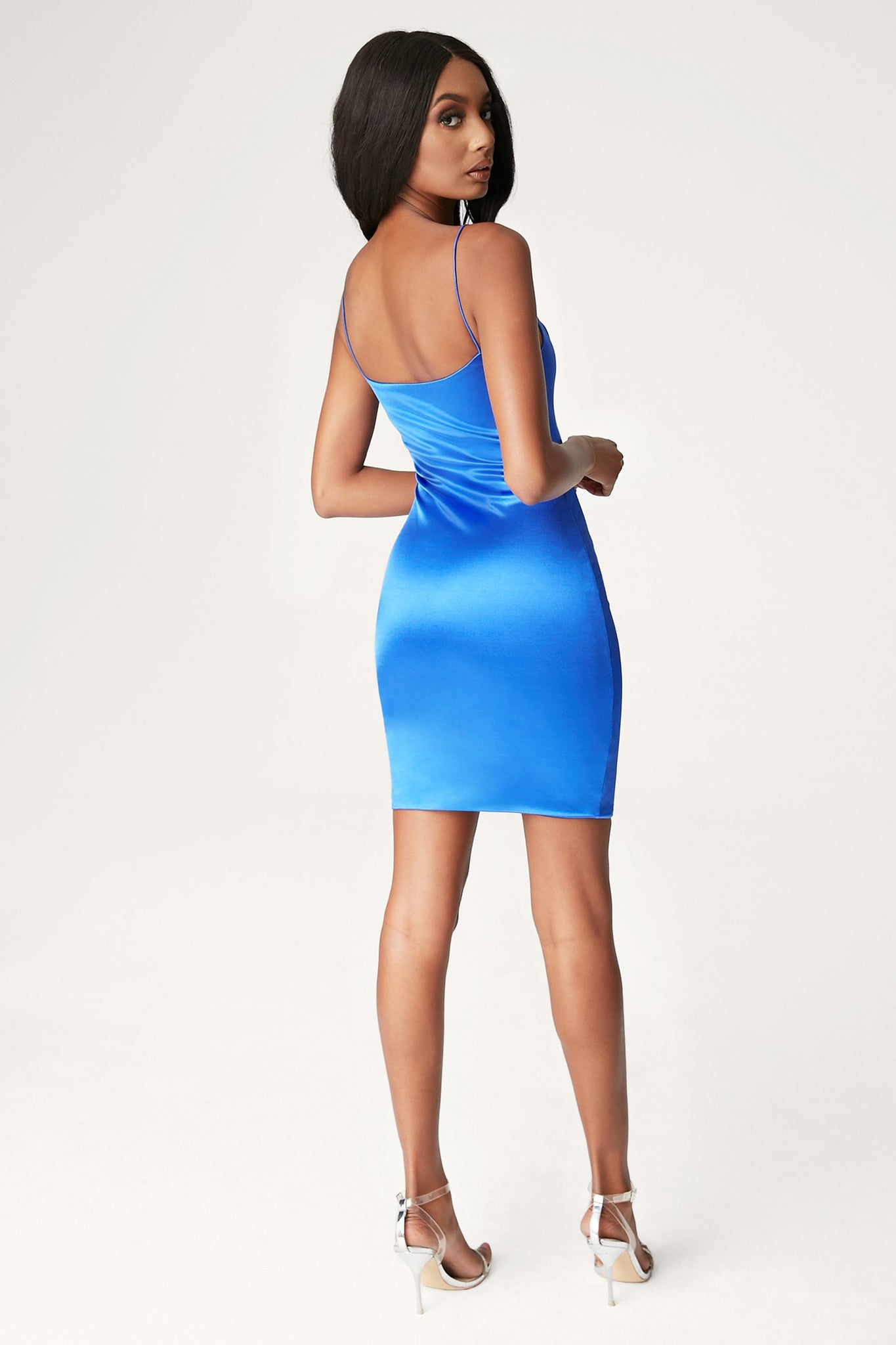 Adrena Thin Strap Mini Dress - Bright Blue - MESHKI