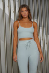 Katria Fluffy Crop Top - Baby Blue