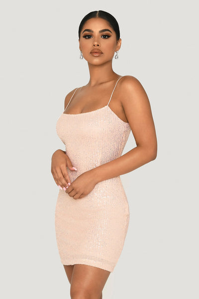 Kyra Thin Strap Bodycon Mini Dress - Iridescent