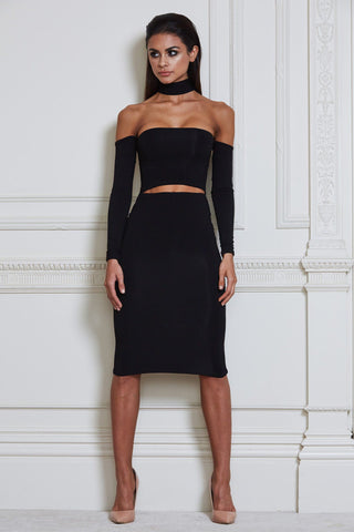 Mimi Multiway Choker Dress - Black