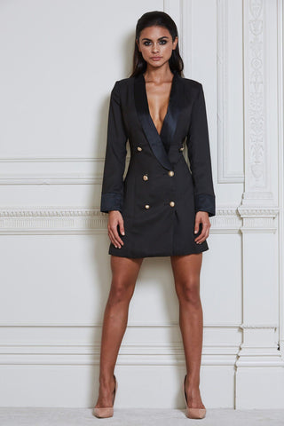 Maurizia Blazer Mini Dress - Black