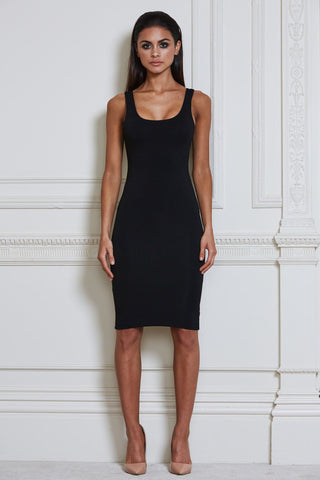 Sia Bodycon Midi Dress - Black