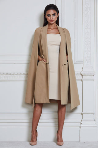 Luca Cape Coat - Camel