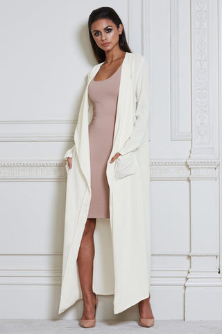 Iris Duster Trench Coat - Cream