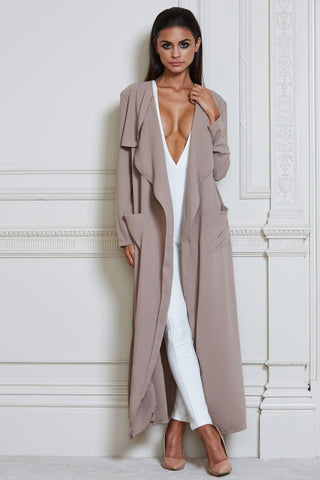 Iris Duster Trench Coat - Mocha