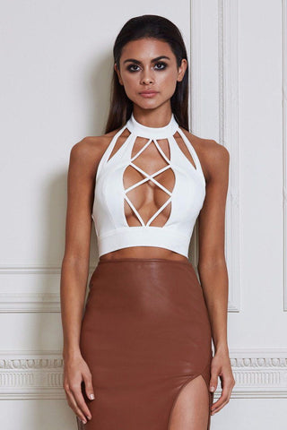 Elie Crop Top - White