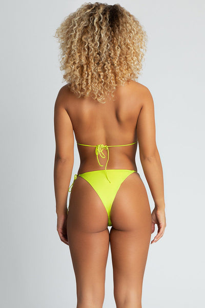 Amalia Tie Up Bikini Top - Neon Yellow - MESHKI