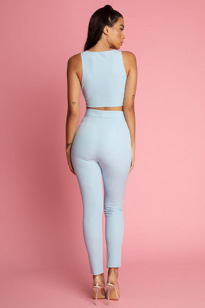 Bridget Skinny Fit Pants - Blue - MESHKI