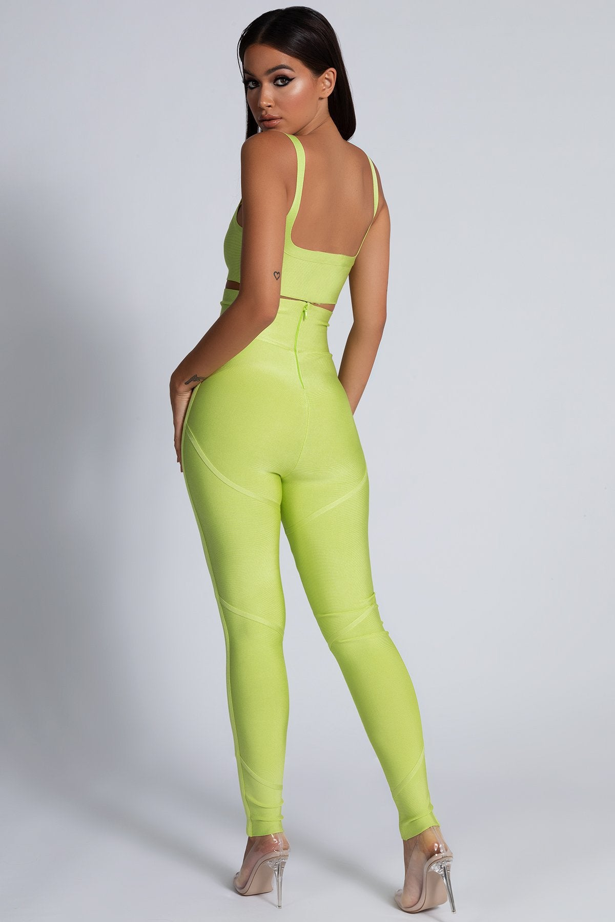 60% discount better price for the latest Amanda Bandage Crop Top - Lime Green