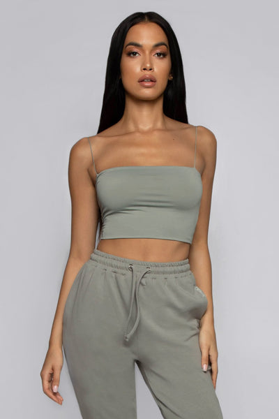 Yvonne Crop Top-Sage - MESHKI