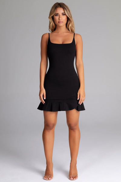 Angela Mini Dress - Black - MESHKI