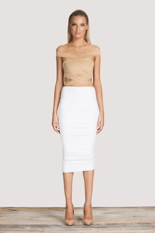 Flex Crop Top - Nude