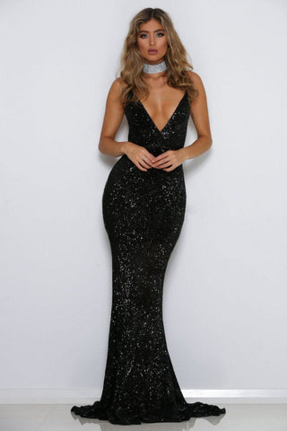 Jilah Gown - Black Sequin
