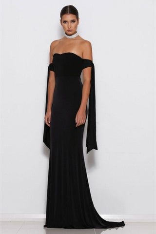 Lovisa Off-Shoulder Gown - Black