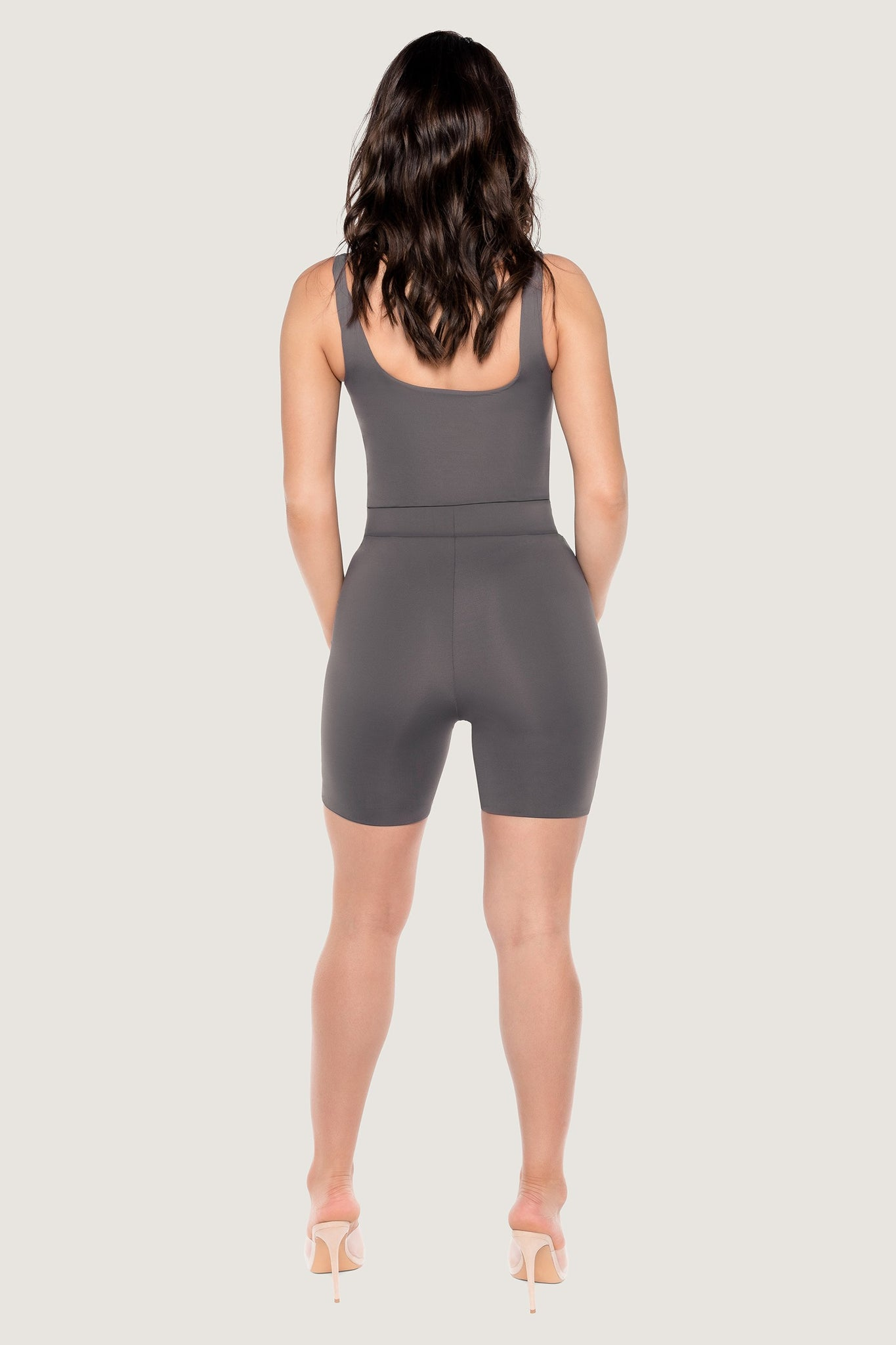 Cameryn High Waisted Bike Short - Charcoal - MESHKI
