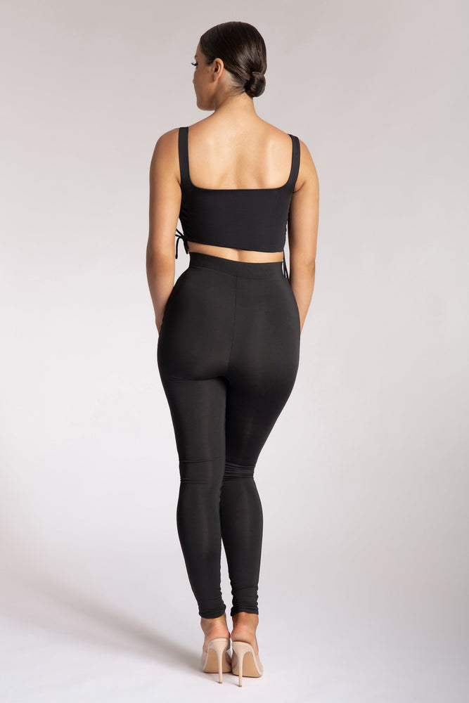 Tilly High Waisted Legging - Black - MESHKI