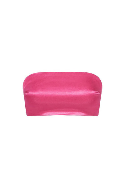 Luella Satin Thin Bandeau - Hot Pink - MESHKI