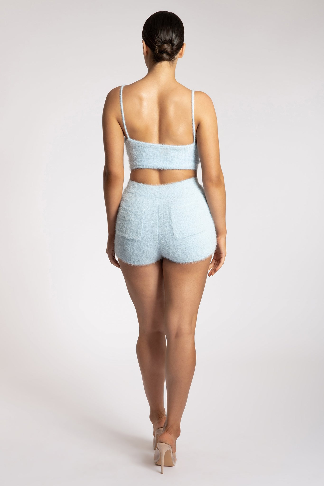 Luna Fluffy Shorts  - Baby Blue - MESHKI