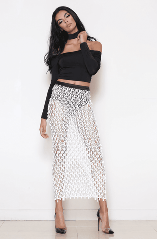 Seline Skirt - White