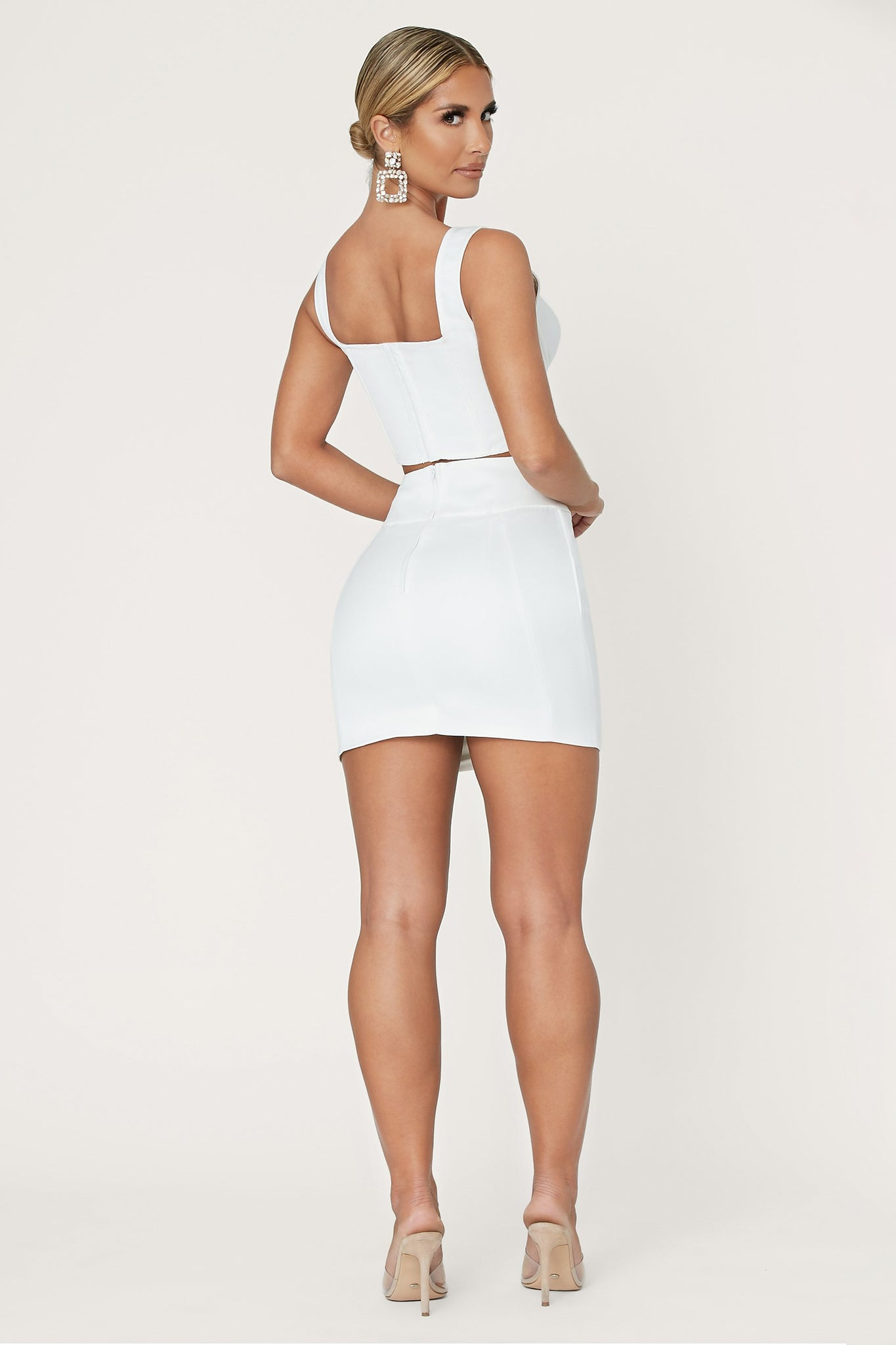 Jodie Mini Skirt - Ivory - MESHKI