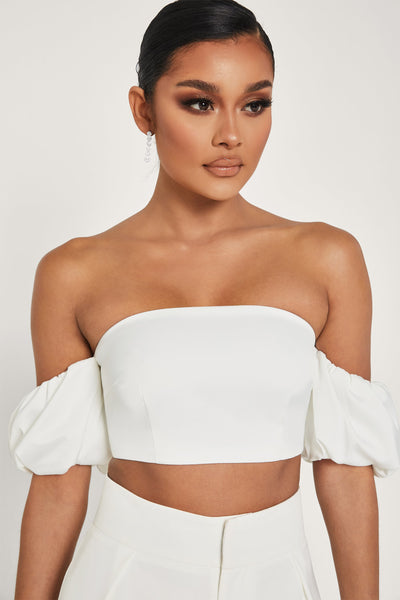 Amberley Puff Sleeve Top - White