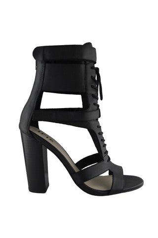 Robin Lace Up Heel - Black