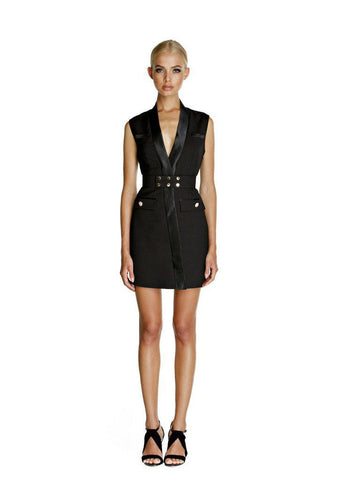 Belize Blazer Dress - Black
