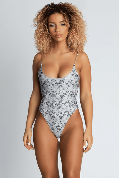 Alicia Cross Back One Piece - Snake - MESHKI