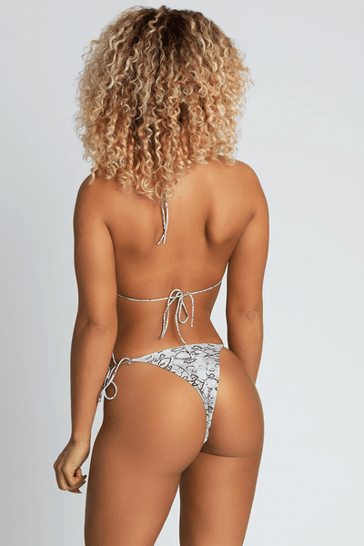 Amalia Tie Up Bikini Bottoms - Snake - MESHKI