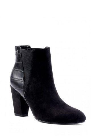 Aviator Pointed Heel Boot - Black Multi