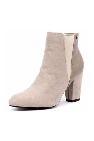 Aviator pointed heel boot - Taupe Multi