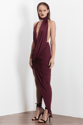 Azari Gown - Burgundy