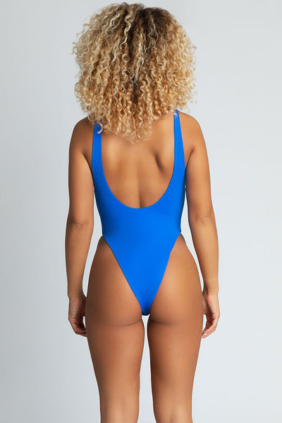 Emelie Low Side One Piece - Bright Blue - MESHKI
